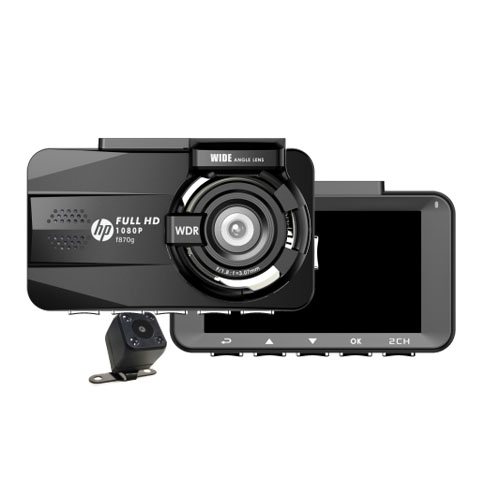กล้องติดหน้ารถ HP รุ่น f870g